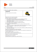 Estudio de Seguridad y Salud. Ficha de prevención para Mini pala cargadora sobre neumáticos